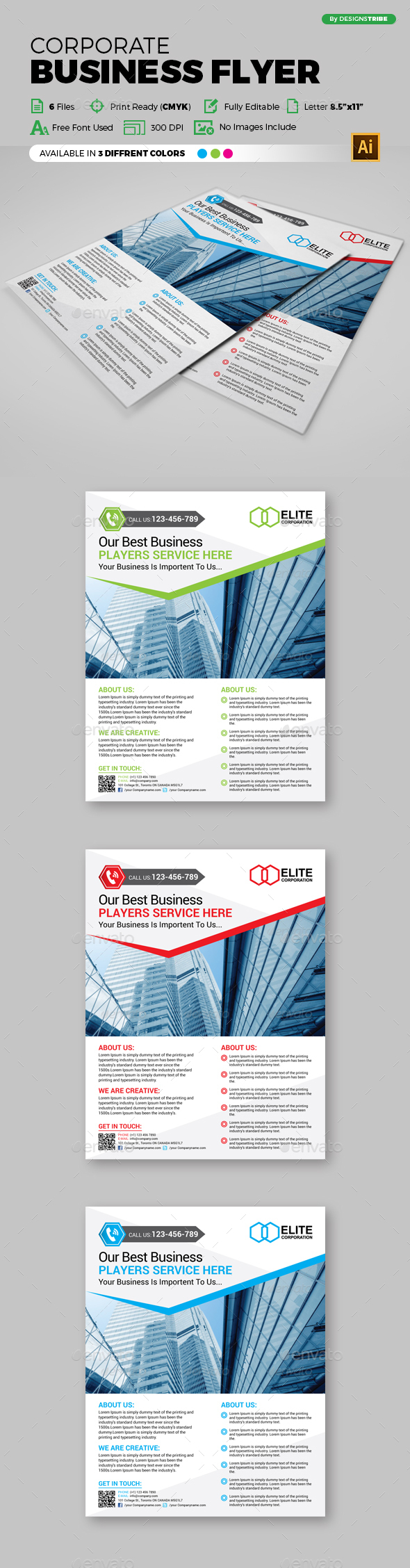 Multipurpose Business Flyer 89 - Flyers Print Templates