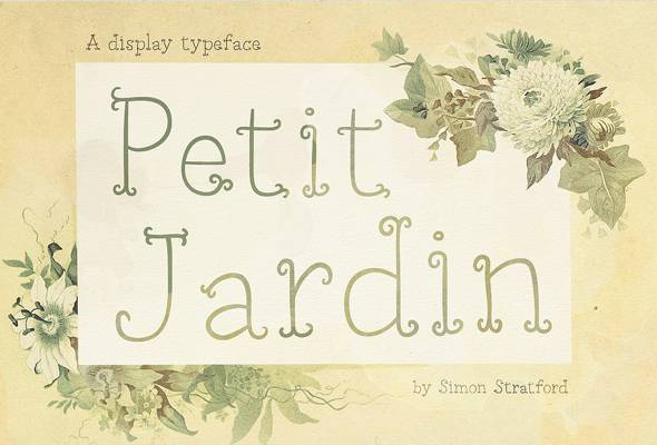 Petit Jardin - Decorative Fonts
