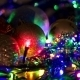 Christmas Tree With Colorful Bokeh And Christmas - VideoHive Item for Sale