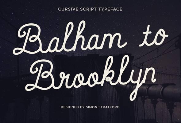 Balham to Brooklyn - Hand-writing Script