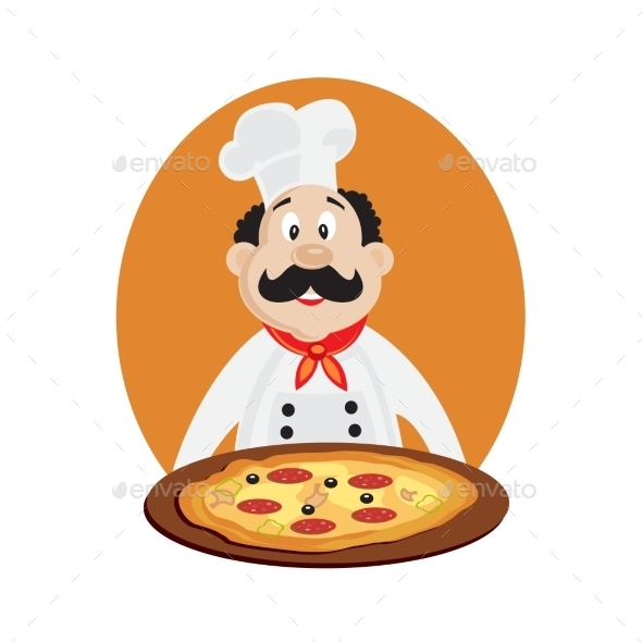 Chef with Pizza - Food Objects