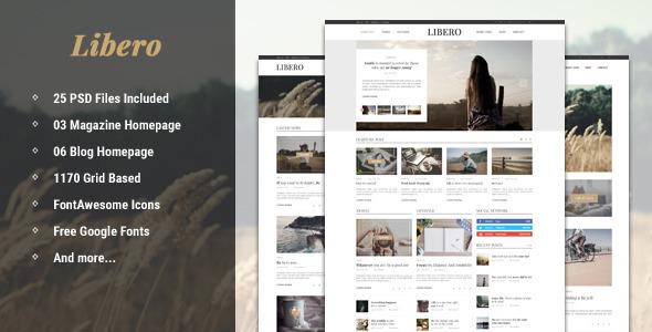 Libero - Blog & Magazine PSD Template