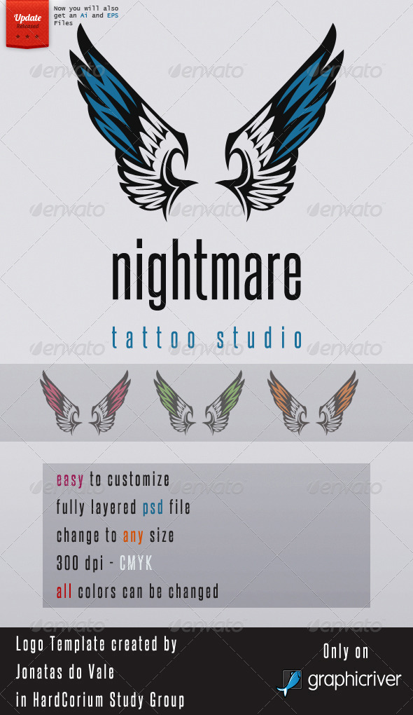 Tattoo, Design Logo Template - Animals Logo Templates