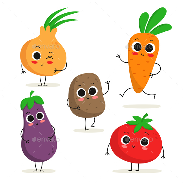 Vegetable Characters - Organic Objects Objects