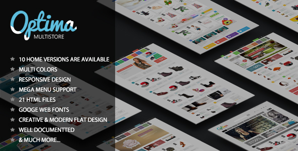 Optima - Responsive eCommerce HTML5 Template - Shopping Retail