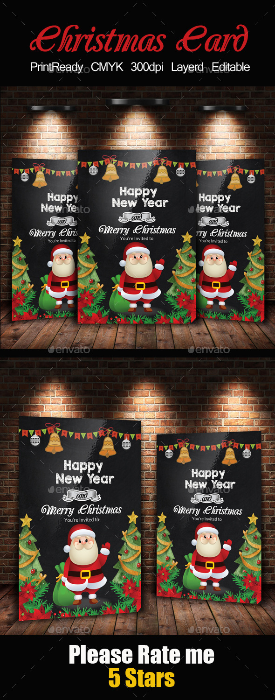 Chalkboard Christmas Flyer Template - Events Flyers