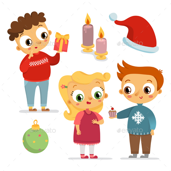 Children and Holiday Symbols - Seasons/Holidays Conceptual