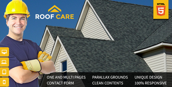 Roof Care – Roofing & Construction HTML Template