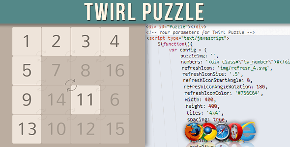 Twirl Puzzle - CodeCanyon Item for Sale