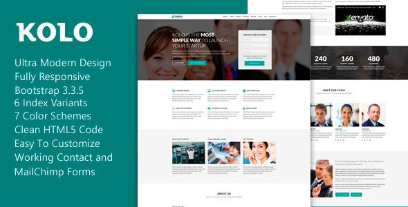 Kolo – Premium Startup Landing Page