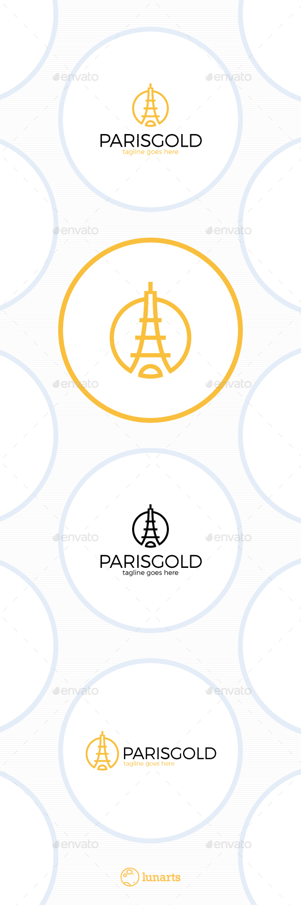 Paris Gold Logo - Luxury Tower - Symbols Logo Templates