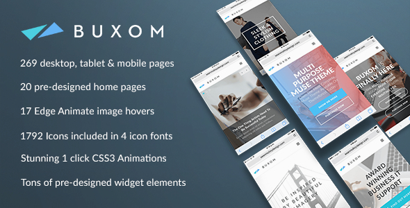 Buxom – Multi-Purpose Muse Template