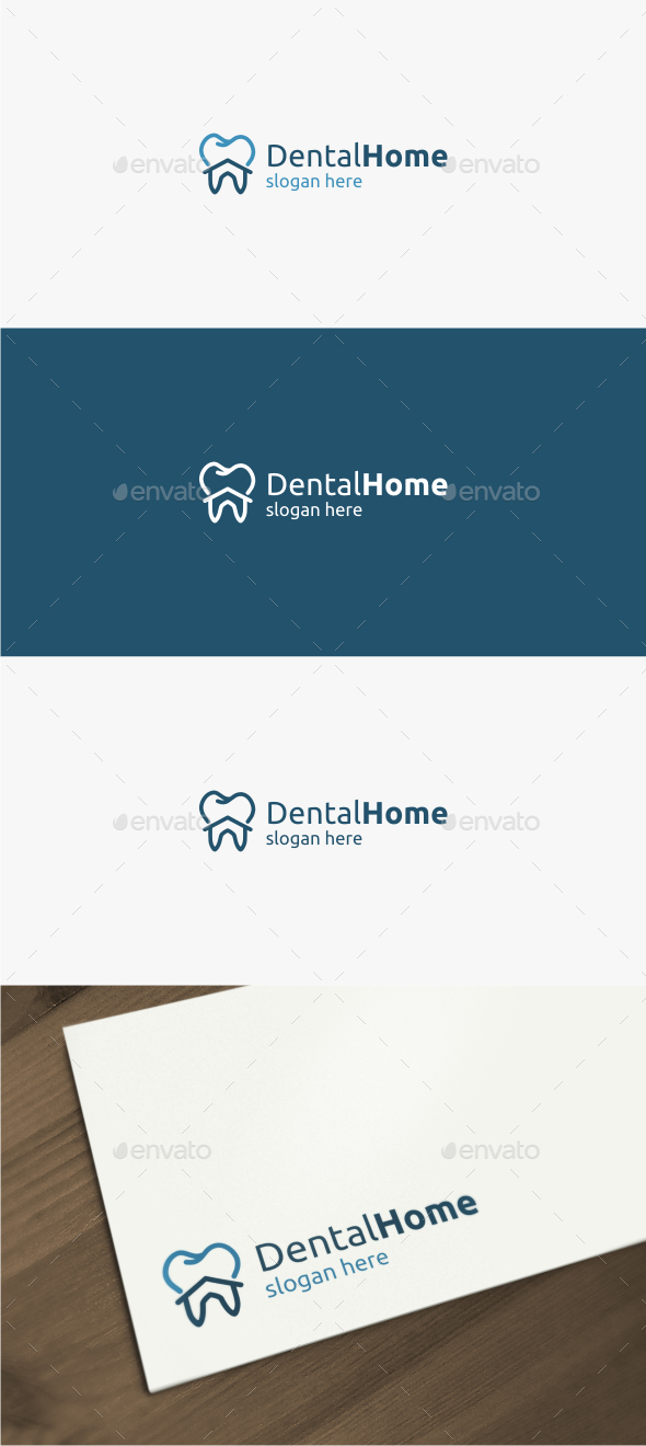 Dental Home - Logo Template - Objects Logo Templates