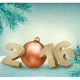 Holiday Background with a Ball - GraphicRiver Item for Sale