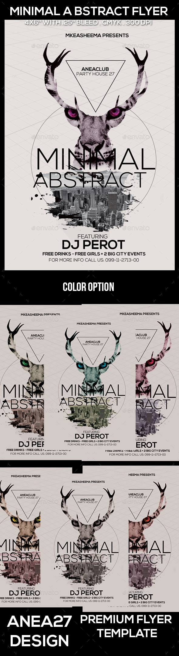 Minimal Abstract Flyer - Clubs & Parties Events