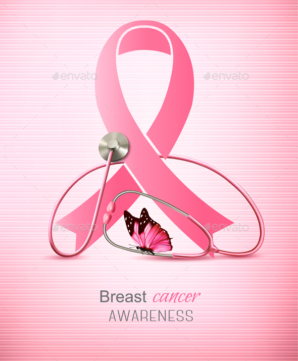Breast Cancer Awareness Ribbon By Almoond Graphicriver