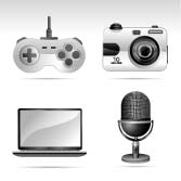 Silvero icon series - multimedia and electronic - GraphicRiver Item for Sale