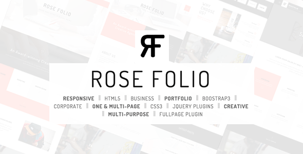 Rose Folio – Business / Portfolio HTML5 Template