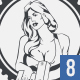Car service badges with hot sexy girls - GraphicRiver Item for Sale