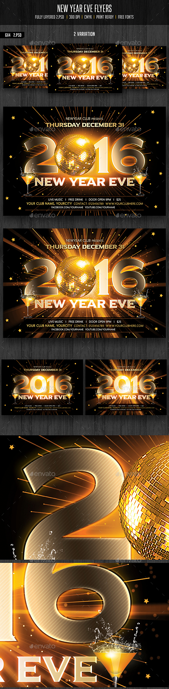 New Year Eve / Party Flyer - Clubs & Parties Events