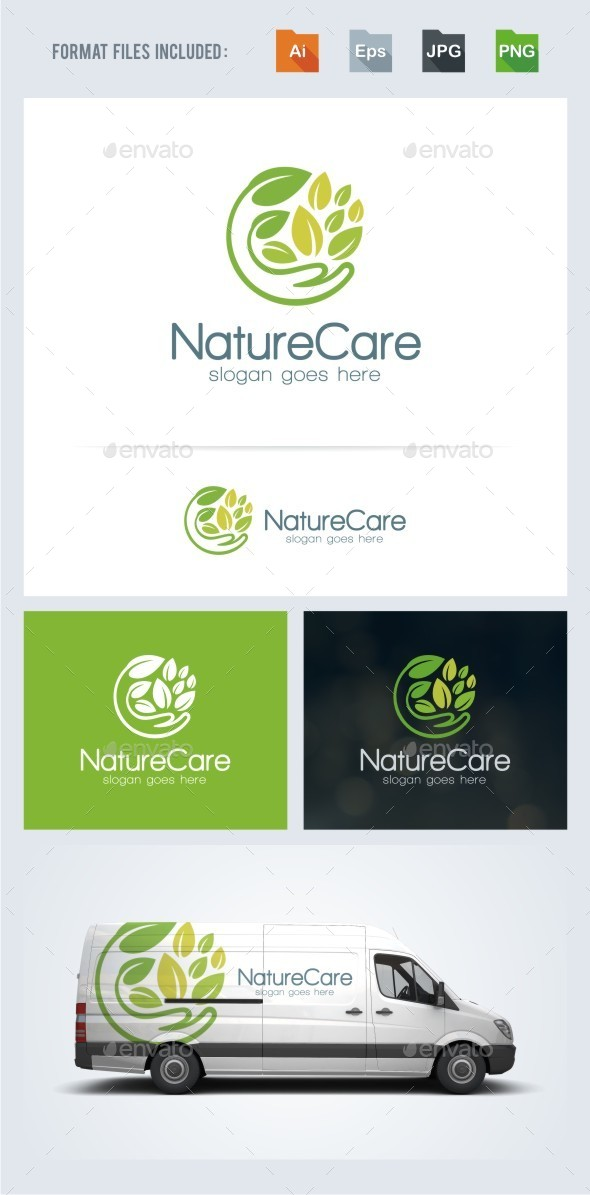 Nature Care Logo Template - Nature Logo Templates