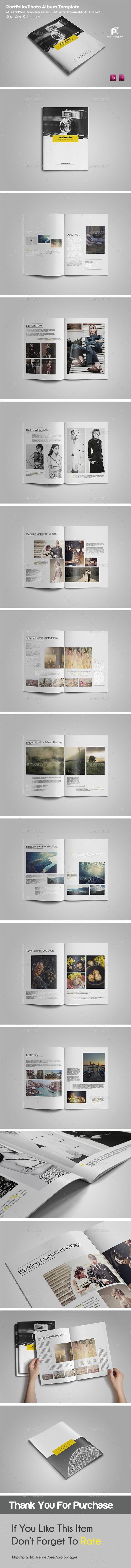 Simple Photo Album Template Vol.2 - Portfolio Brochures