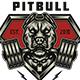 Pitbull Gym T-shirt Design - GraphicRiver Item for Sale