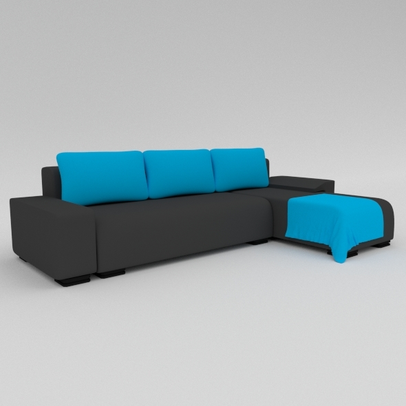 L-Shape Sofa - 3DOcean Item for Sale