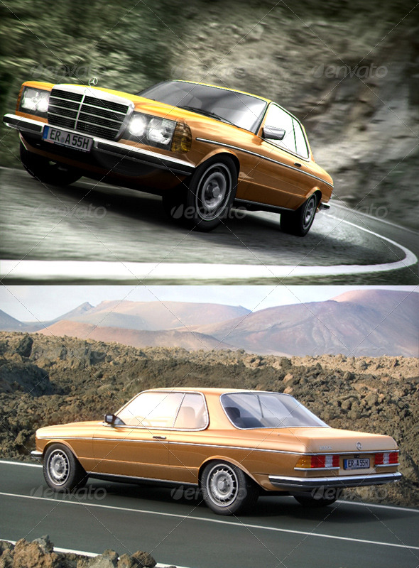 Mercedes Benz 280ce w123 coupe - 3DOcean Item for Sale