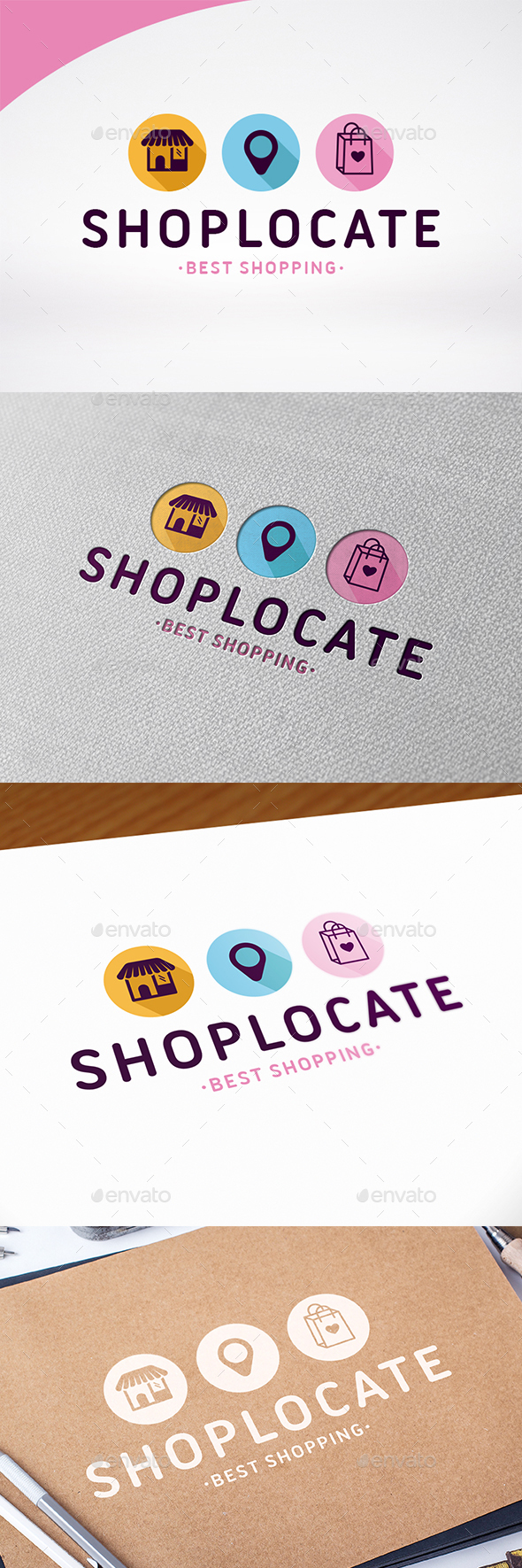 Shopping Finder Logo Template - Symbols Logo Templates