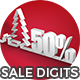 Xmas Sale Digits V1 - 20 Pack - VideoHive Item for Sale