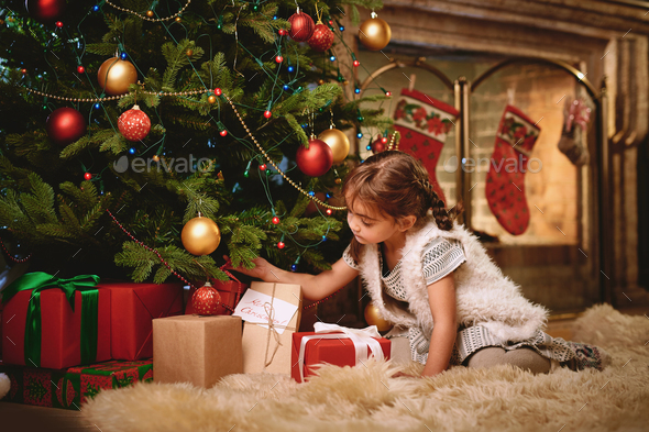 Looking for Christmas gift - Stock Photo - Images