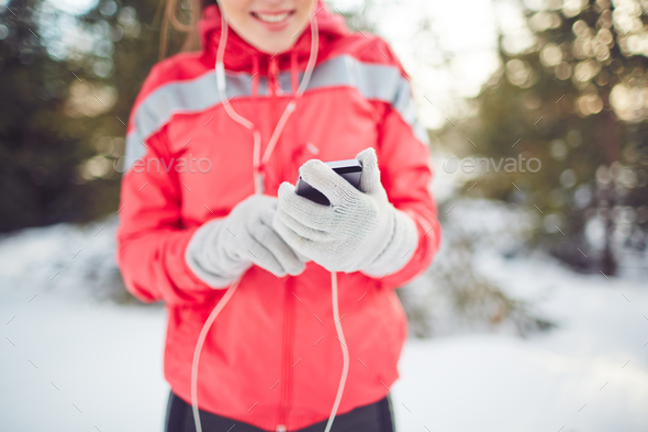 Winter walk - Stock Photo - Images