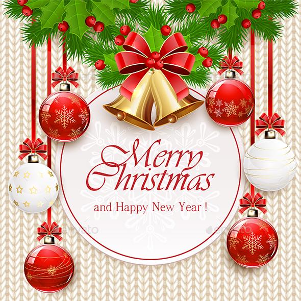 Christmas Balls and Golden Bells  - Christmas Seasons/Holidays
