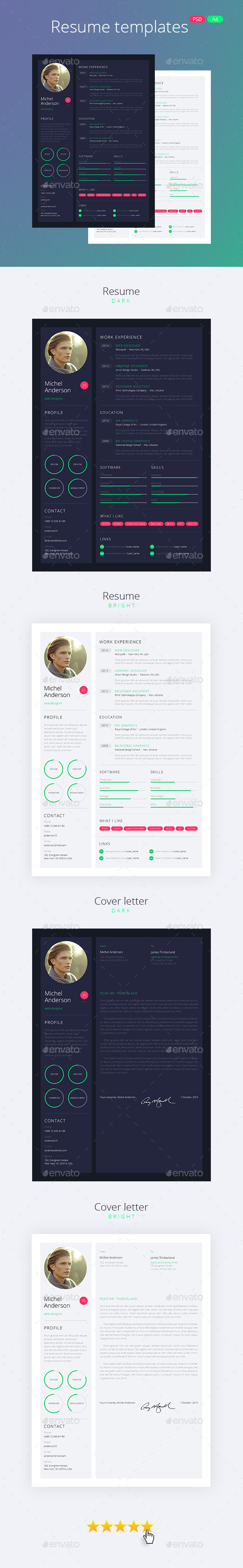 Web-Design Style Resume / CV - Resumes Stationery