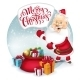 Happy Santa Clause With Gift Sack. Vector - GraphicRiver Item for Sale