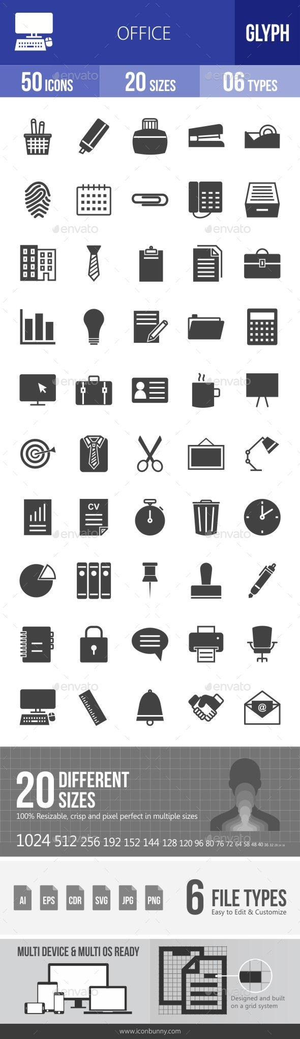 Office Glyph Icons - Icons