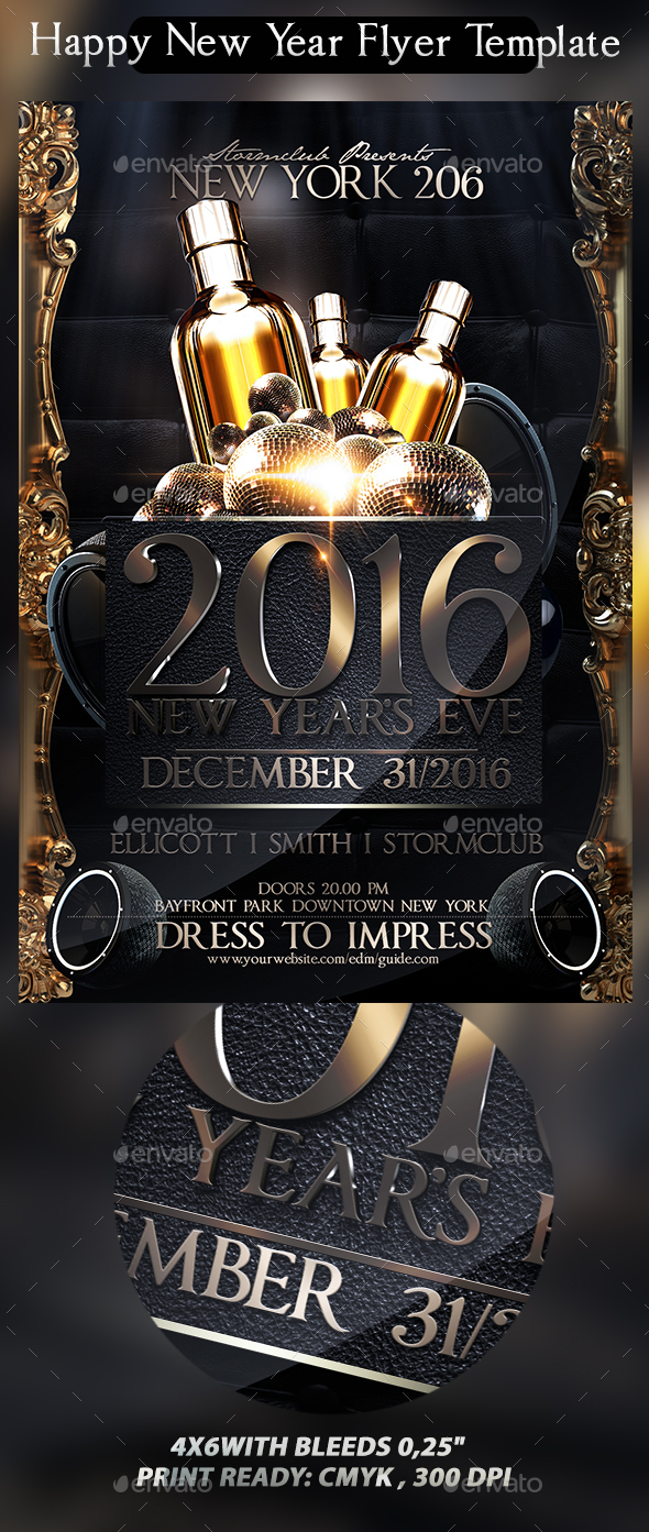 Happy New Year Flyer Template   Events Flyers