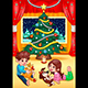 Christmas Scene with Children and Pets - GraphicRiver Item for Sale