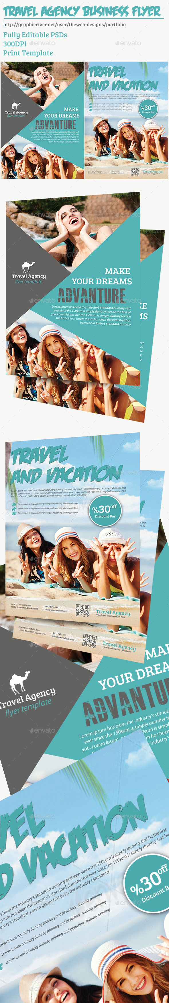 Travel Agency Flyer Template - Flyers Print Templates