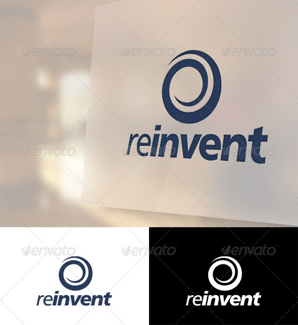 Reinvent Logo Template - Vector Abstract