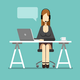 Support Business Woman Working in Office - GraphicRiver Item for Sale