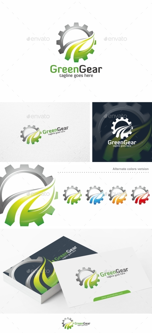Green Gear - Logo Template - Symbols Logo Templates