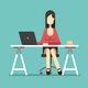 Business Woman Working in Office Character Design - GraphicRiver Item for Sale