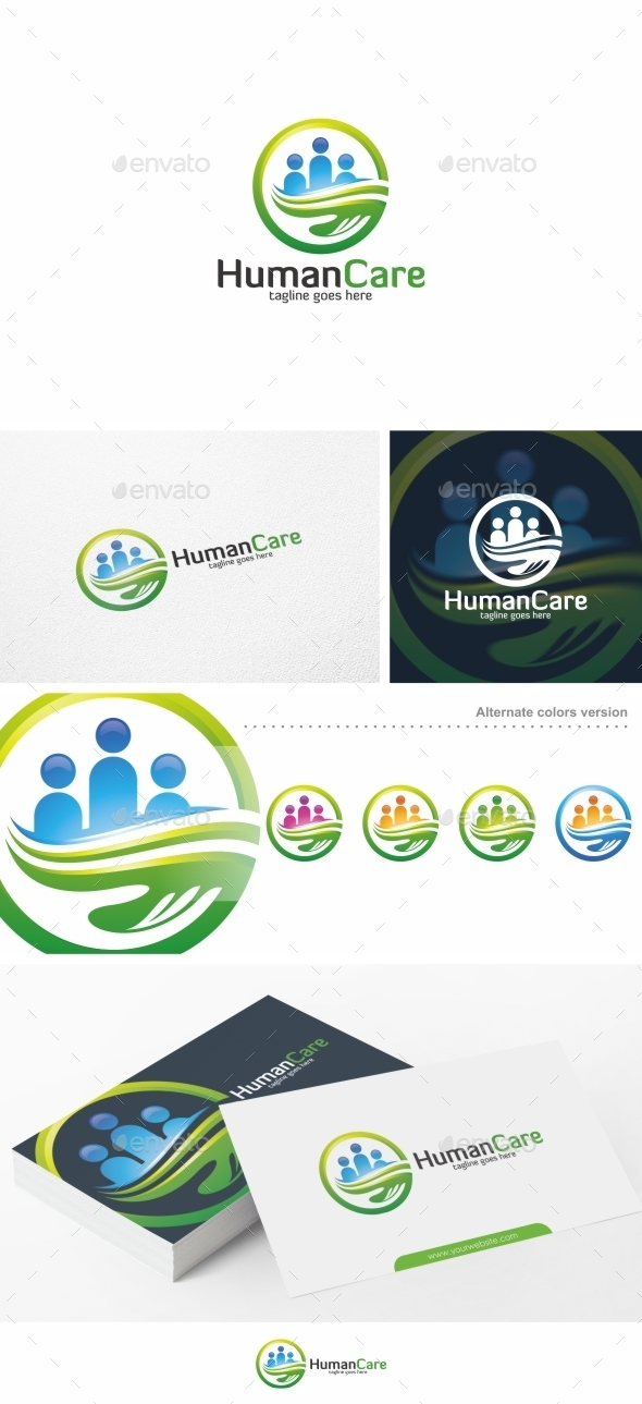 Human Care / People - Logo Template - Humans Logo Templates