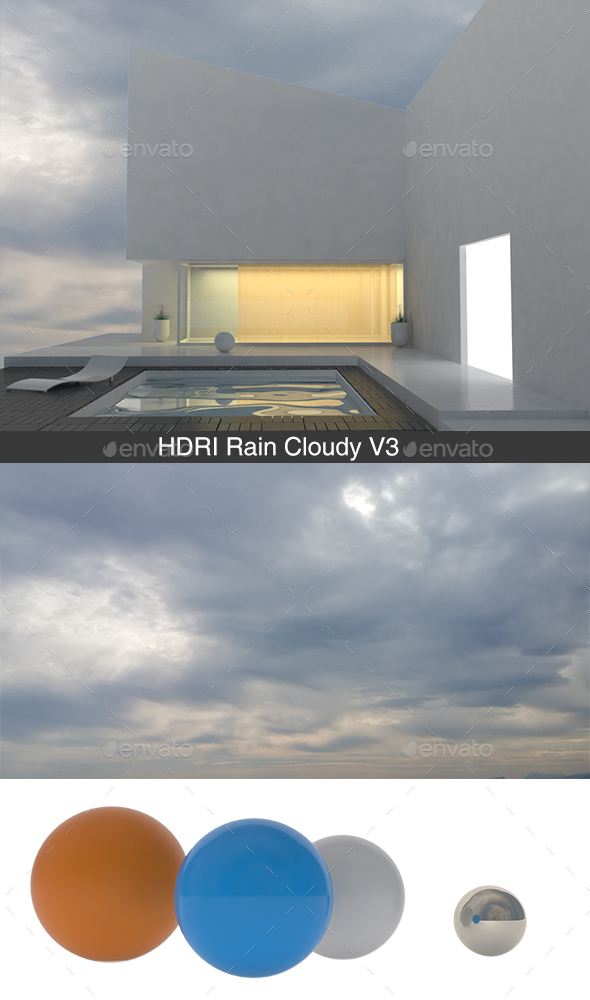 Rain Cloudy V3 HDRI - 3DOcean Item for Sale
