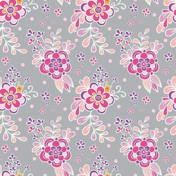 Floral Vintage Seamless Pattern. - Flowers & Plants Nature