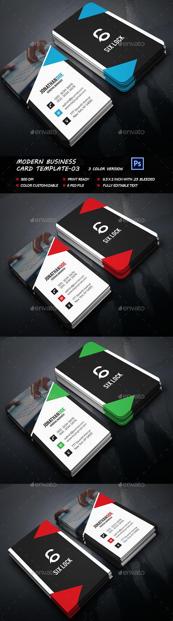 Modern Business Card Template-03 - Business Cards Print Templates