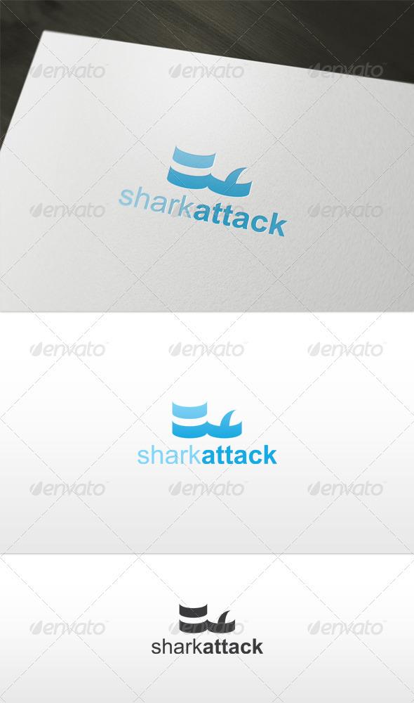 Shark Attack Logo - Animals Logo Templates