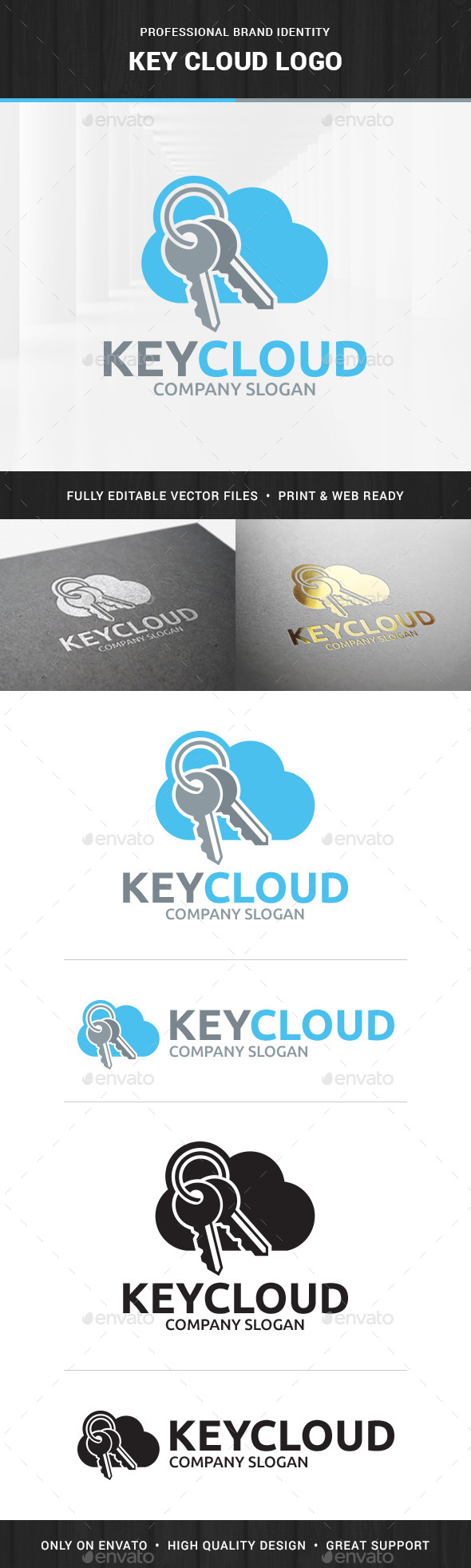 Key Cloud Logo Template - Objects Logo Templates